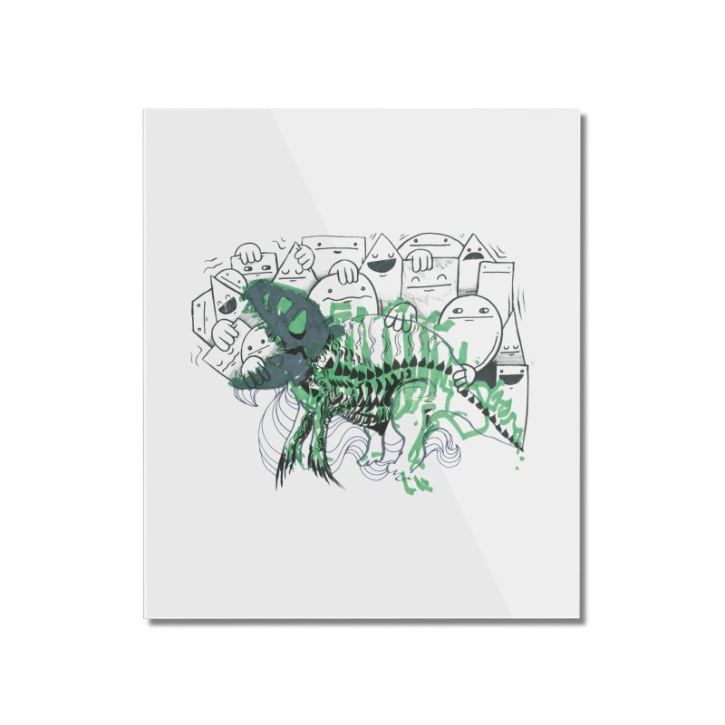 The Beast of Shapesville Home Mounted Acrylic Print by Democratee