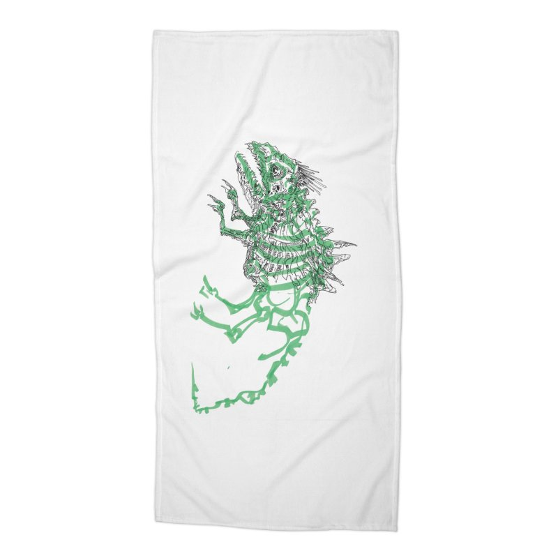 Chimera Chameleon Accessories Beach Towel by Democratee
