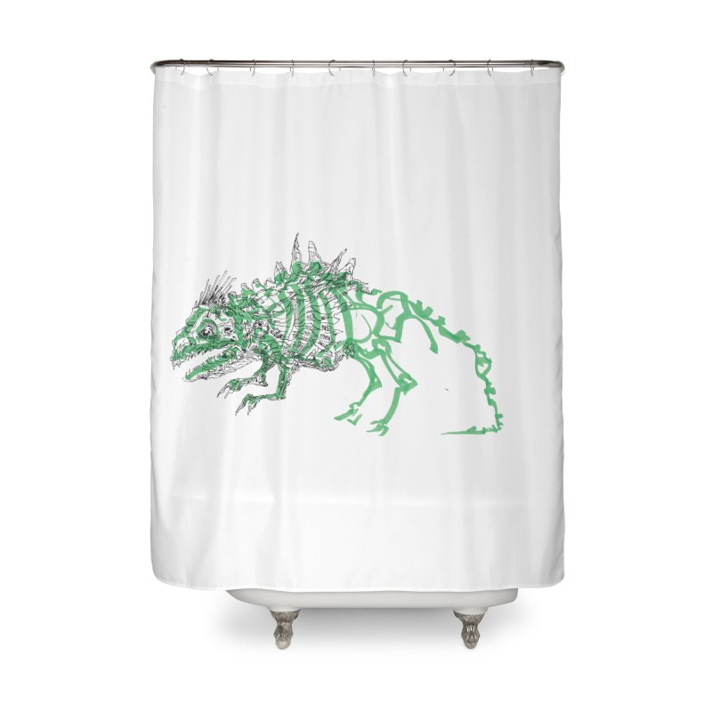 Chimera Chameleon Home Shower Curtain by Democratee