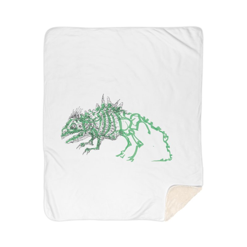 Chimera Chameleon Home Sherpa Blanket Blanket by Democratee