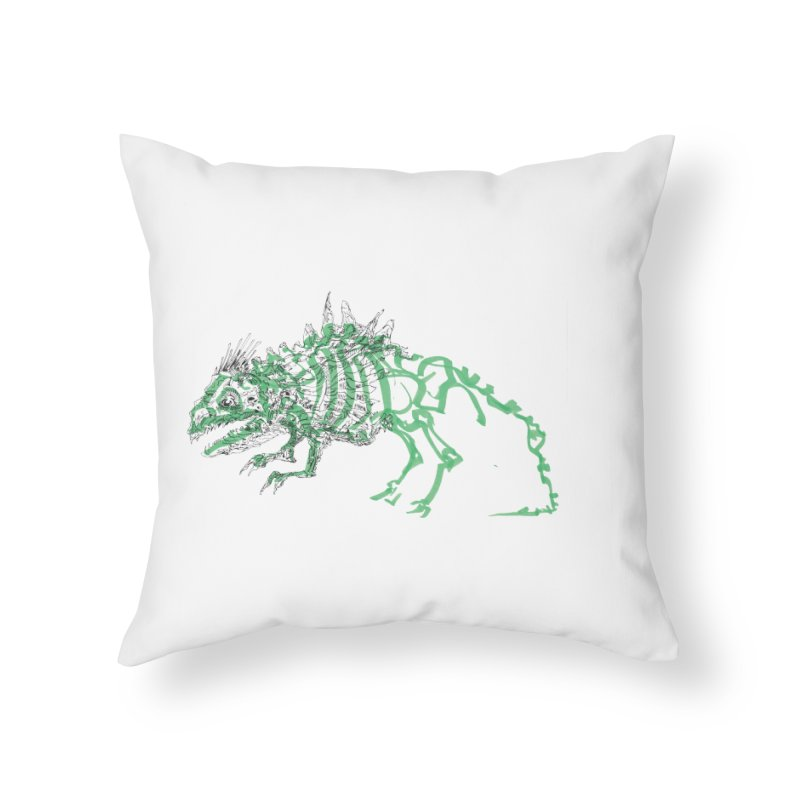 Chimera Chameleon Home Throw Pillow by Democratee