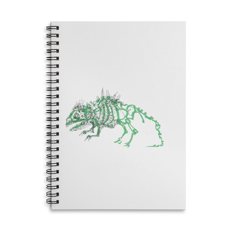 Chimera Chameleon Accessories Lined Spiral Notebook by Democratee