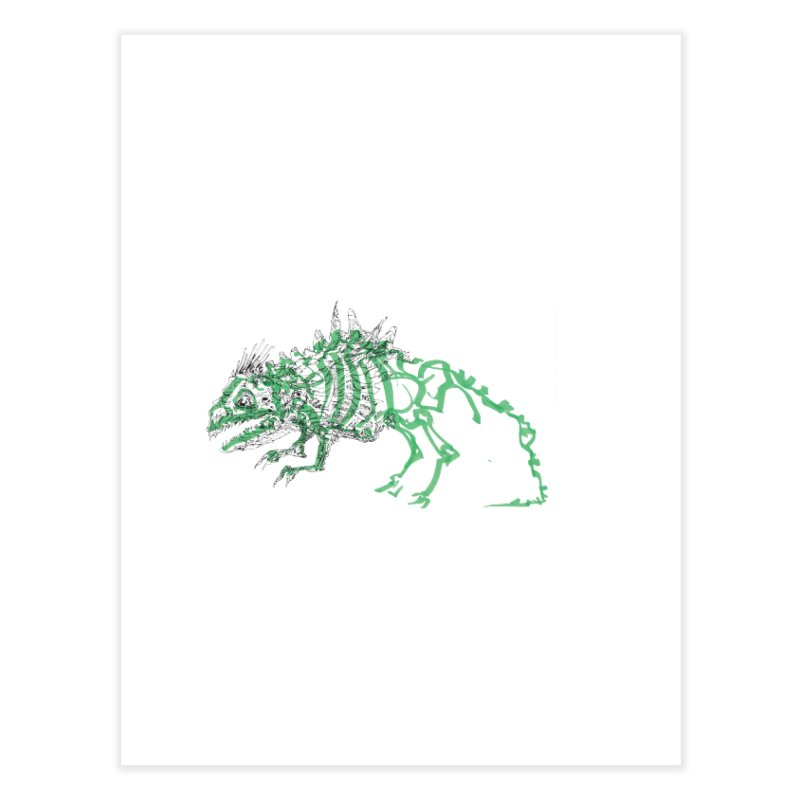 Chimera Chameleon Home Fine Art Print by Democratee