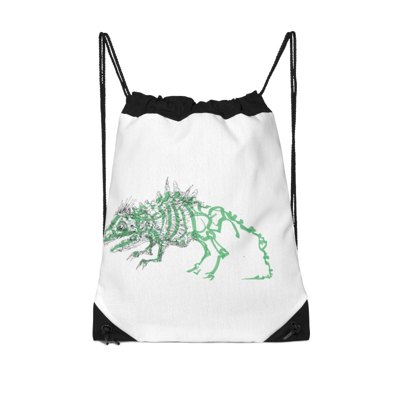 Chimera Chameleon Accessories Drawstring Bag Bag by Democratee