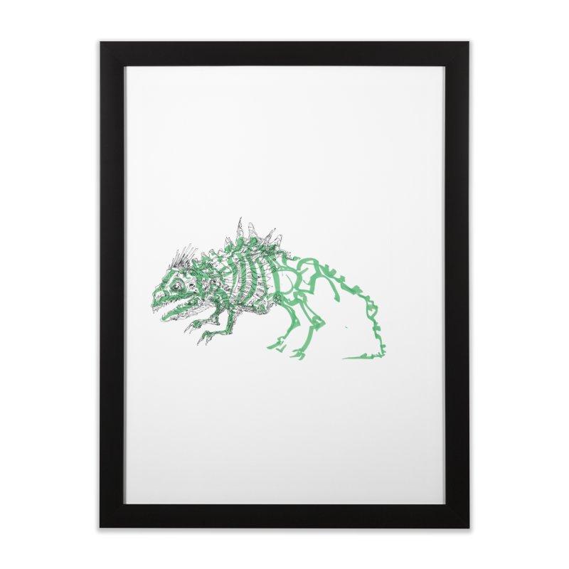 Chimera Chameleon Home Framed Fine Art Print by Democratee