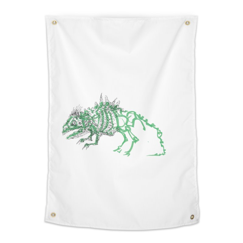Chimera Chameleon Home Tapestry by Democratee
