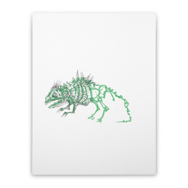 Chimera Chameleon Home Stretched Canvas by Democratee