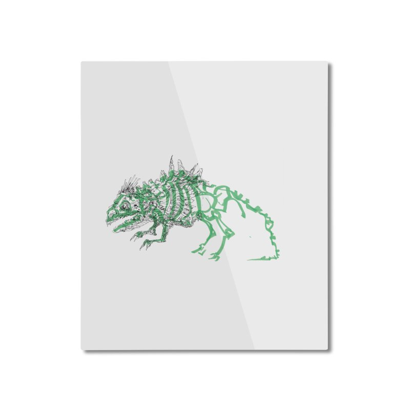 Chimera Chameleon Home Mounted Aluminum Print by Democratee