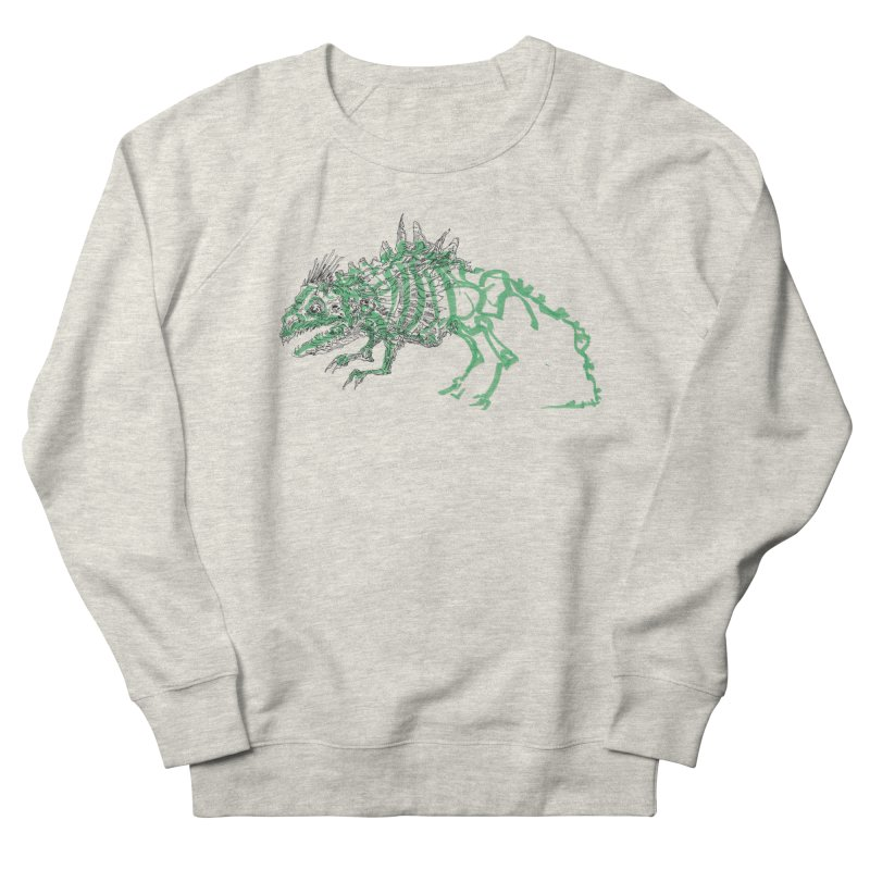 Chimera Chameleon in Women's French Terry Sweatshirt Heather Oatmeal by Democratee