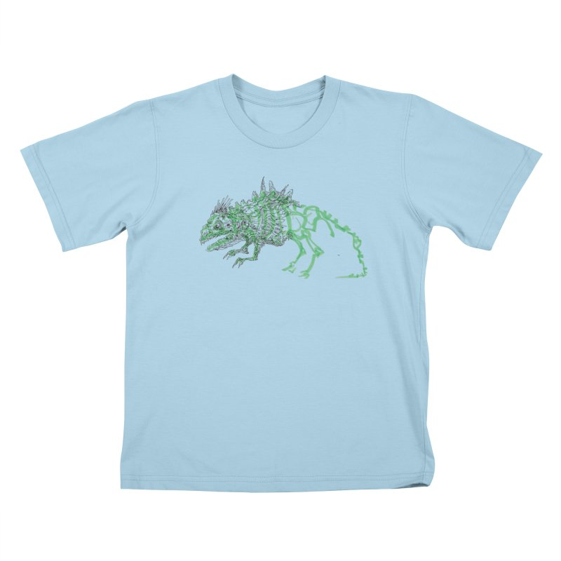 Chimera Chameleon Kids T-Shirt by Democratee