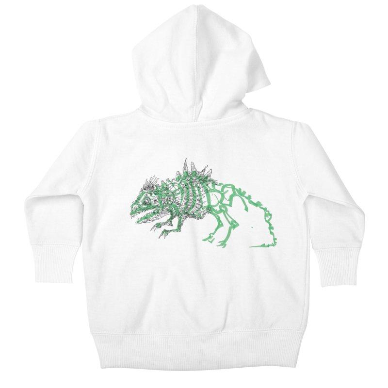 Chimera Chameleon Kids Baby Zip-Up Hoody by Democratee