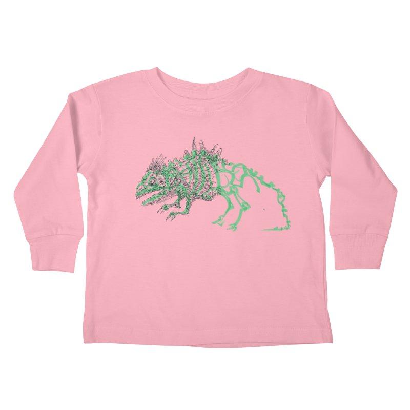 Chimera Chameleon Kids Toddler Longsleeve T-Shirt by Democratee