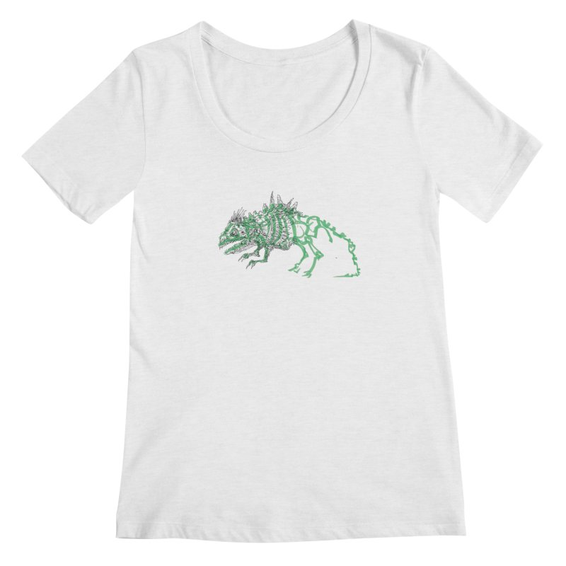 Chimera Chameleon Women's Regular Scoop Neck by Democratee