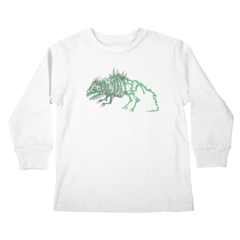 Chimera Chameleon Kids Longsleeve T-Shirt by Democratee