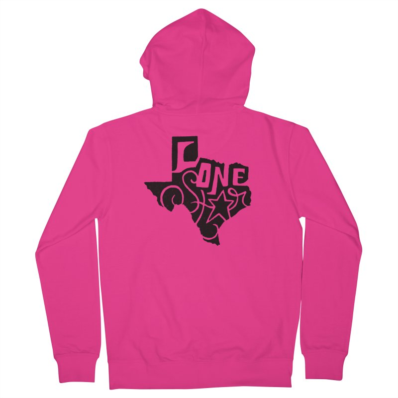 For the Love of Texas Men's Zip-Up Hoody by DenDraws's Shop