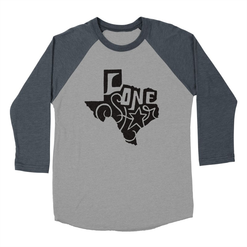 For the Love of Texas Men's Baseball Triblend T-Shirt by DenDraws's Shop