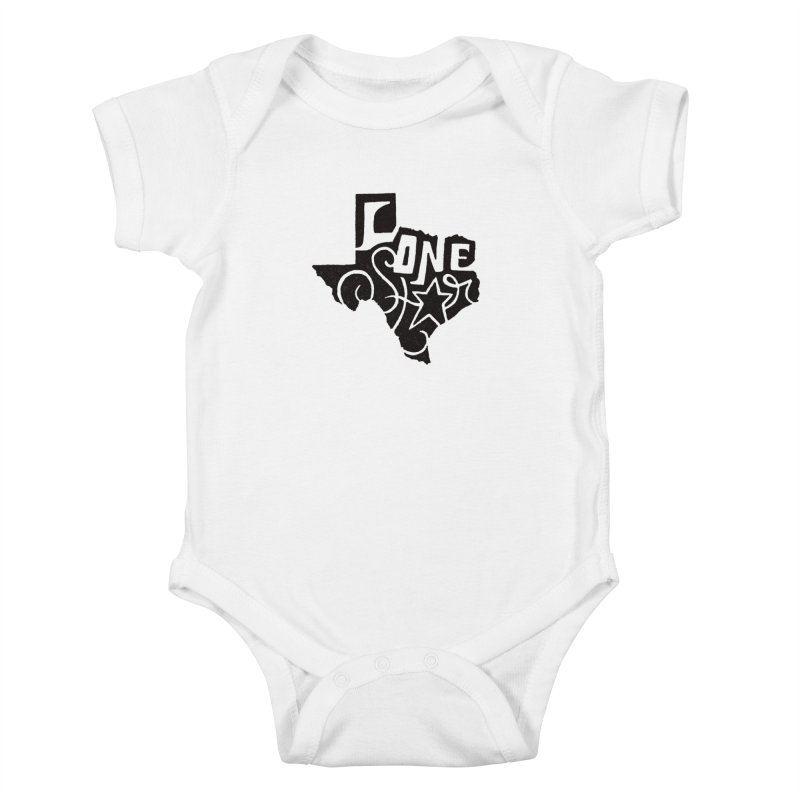 For the Love of Texas Kids Baby Bodysuit by DenDraws's Shop