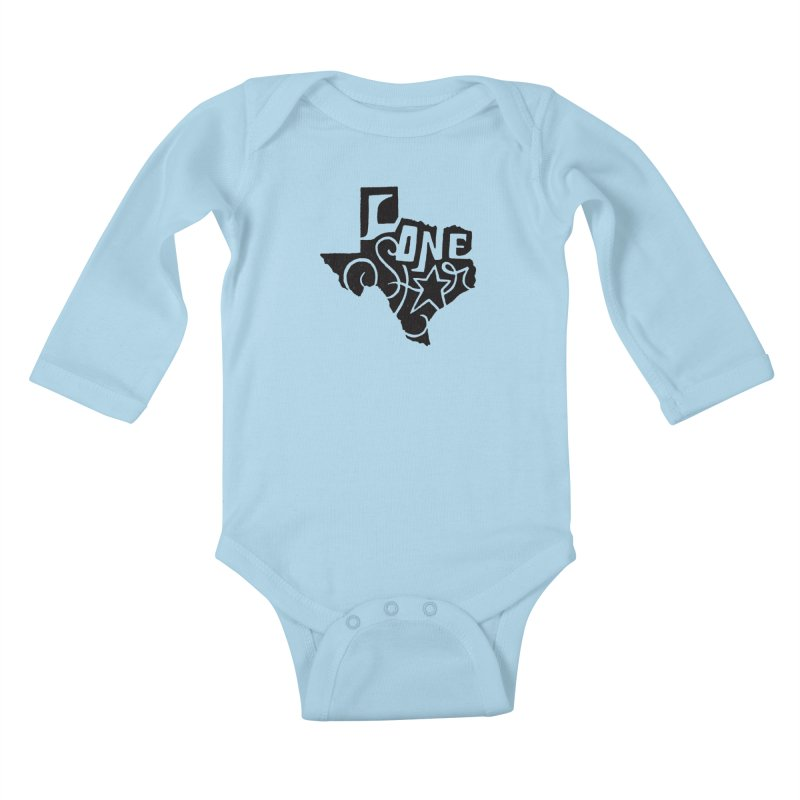 For the Love of Texas Kids Baby Longsleeve Bodysuit by DenDraws's Shop