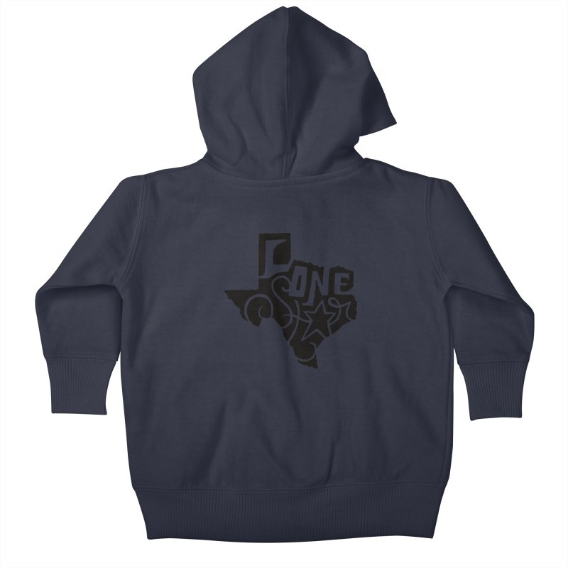 For the Love of Texas Kids Baby Zip-Up Hoody by DenDraws's Shop