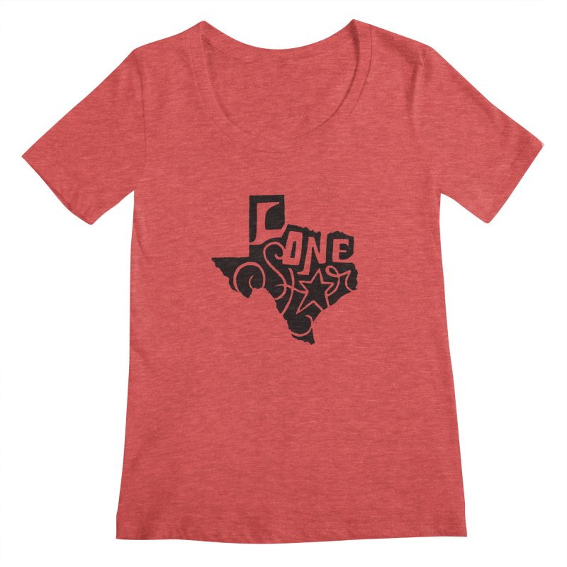 For the Love of Texas Women's Scoopneck by DenDraws's Shop
