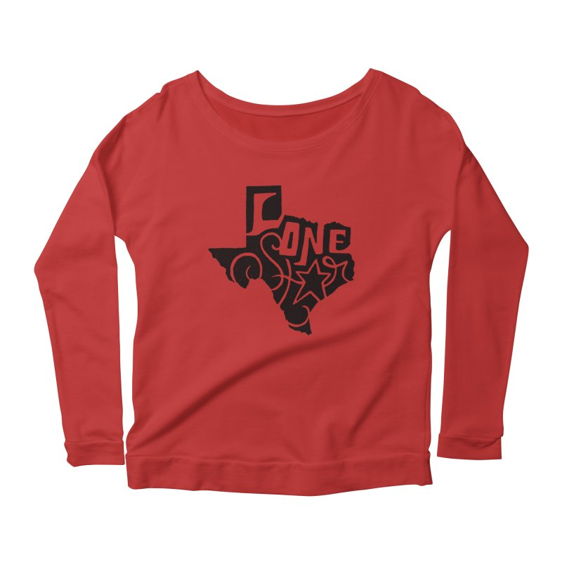 For the Love of Texas Women's Longsleeve Scoopneck  by DenDraws's Shop