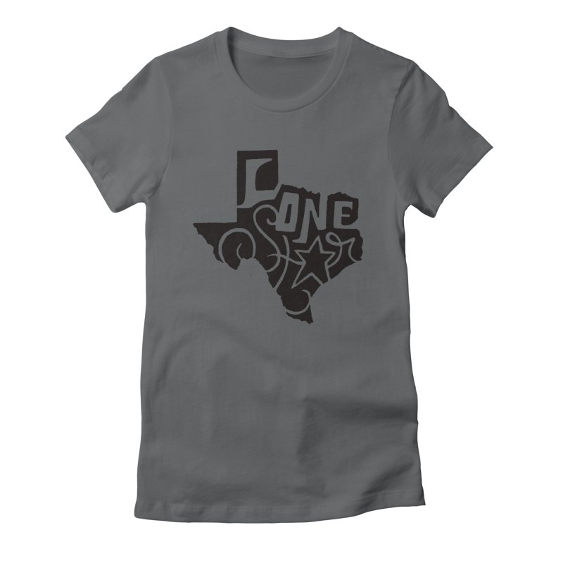For the Love of Texas Women's Fitted T-Shirt by DenDraws's Shop