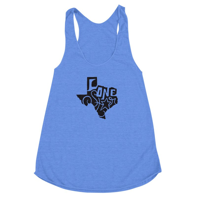 For the Love of Texas Women's Racerback Triblend Tank by DenDraws's Shop
