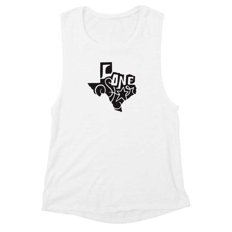 For the Love of Texas Women's Muscle Tank by DenDraws's Shop