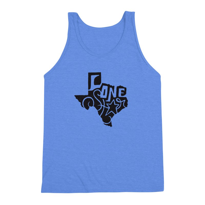 For the Love of Texas Men's Triblend Tank by DenDraws's Shop