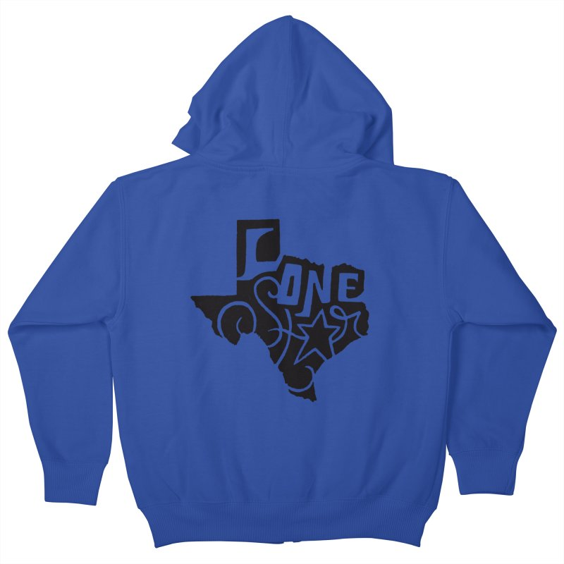 For the Love of Texas Kids Zip-Up Hoody by DenDraws's Shop