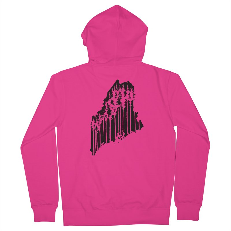 For the Love of Maine Men's Zip-Up Hoody by DenDraws's Shop