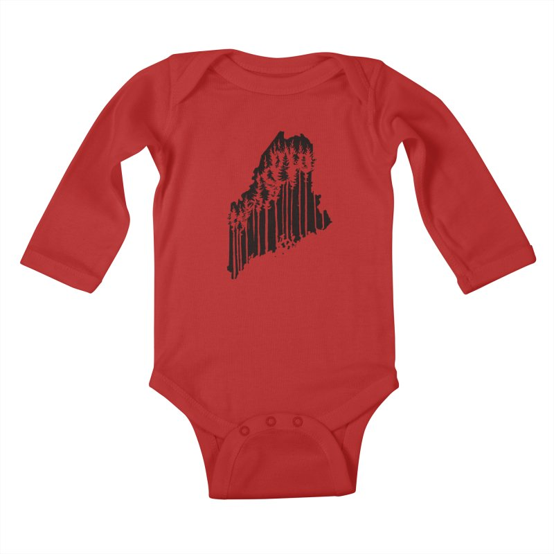 For the Love of Maine Kids Baby Longsleeve Bodysuit by DenDraws's Shop