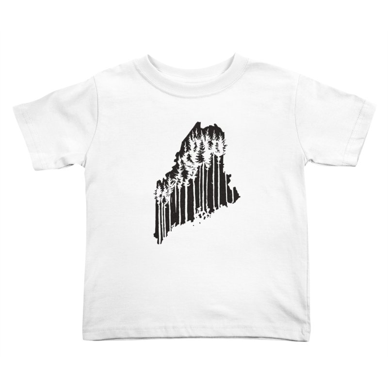 For the Love of Maine Kids Toddler T-Shirt by DenDraws's Shop