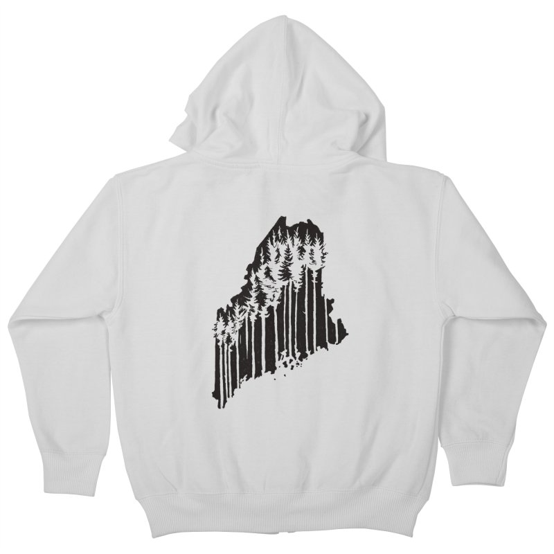 For the Love of Maine Kids Zip-Up Hoody by DenDraws's Shop
