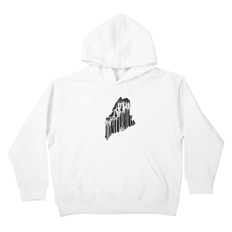 For the Love of Maine Kids Pullover Hoody by DenDraws's Shop
