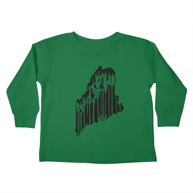 For the Love of Maine Kids Toddler Longsleeve T-Shirt by DenDraws's Shop