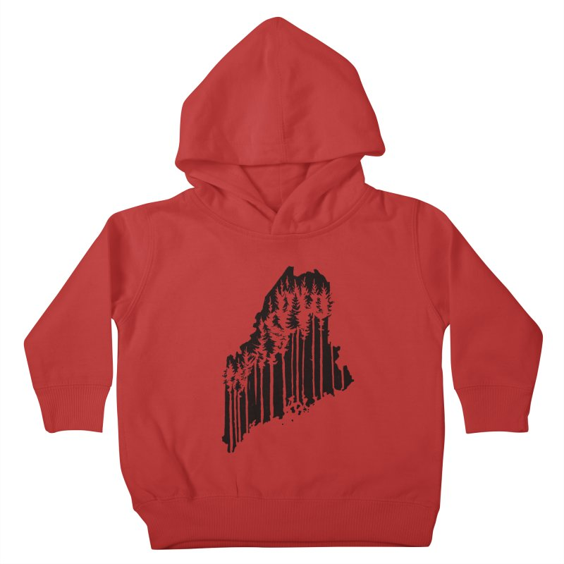 For the Love of Maine Kids Toddler Pullover Hoody by DenDraws's Shop