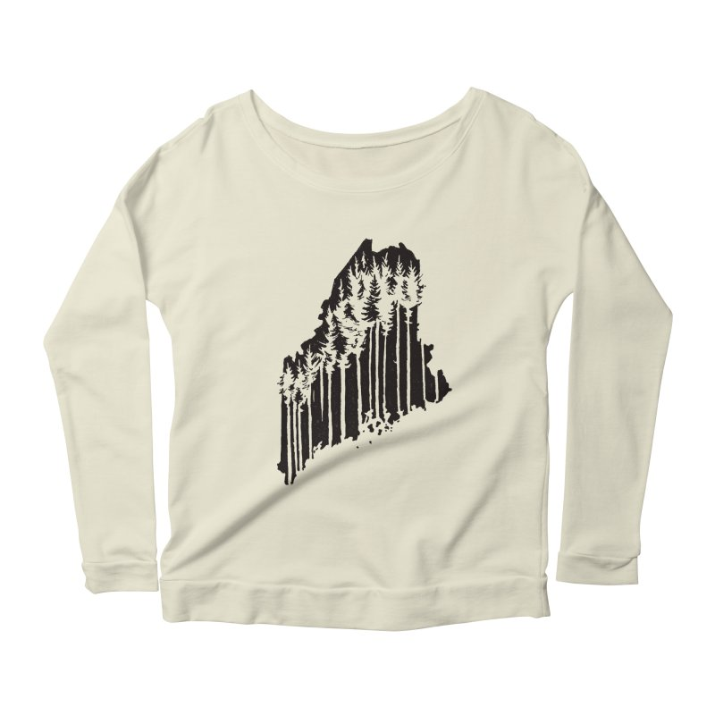 For the Love of Maine Women's Longsleeve Scoopneck  by DenDraws's Shop