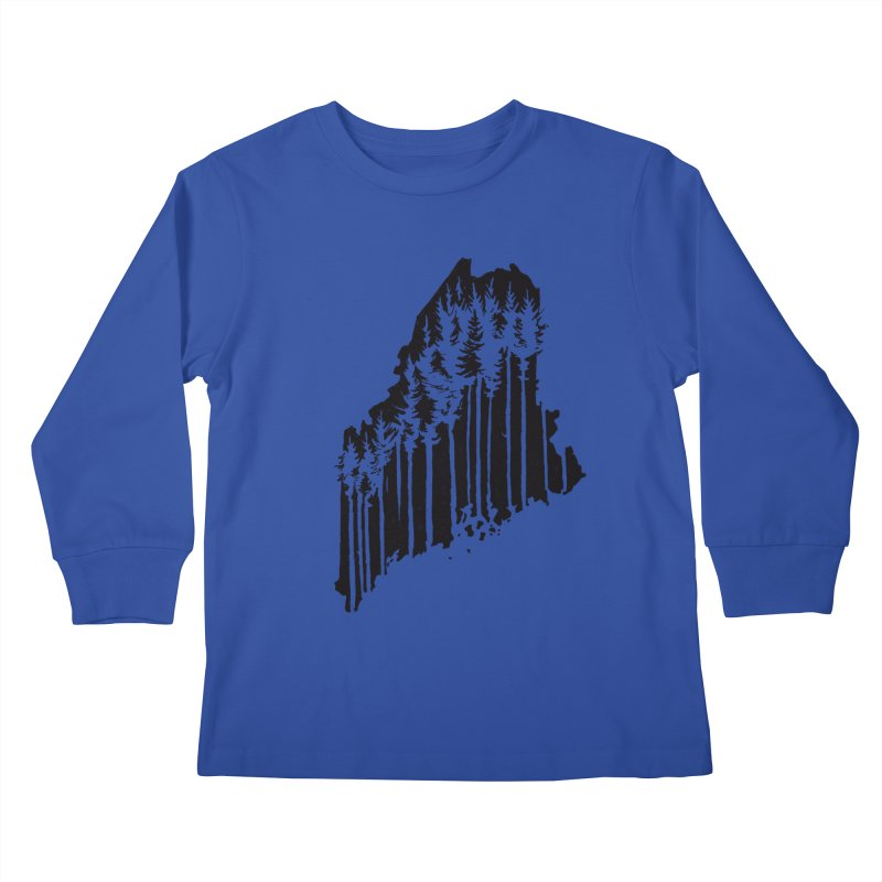 For the Love of Maine Kids Longsleeve T-Shirt by DenDraws's Shop