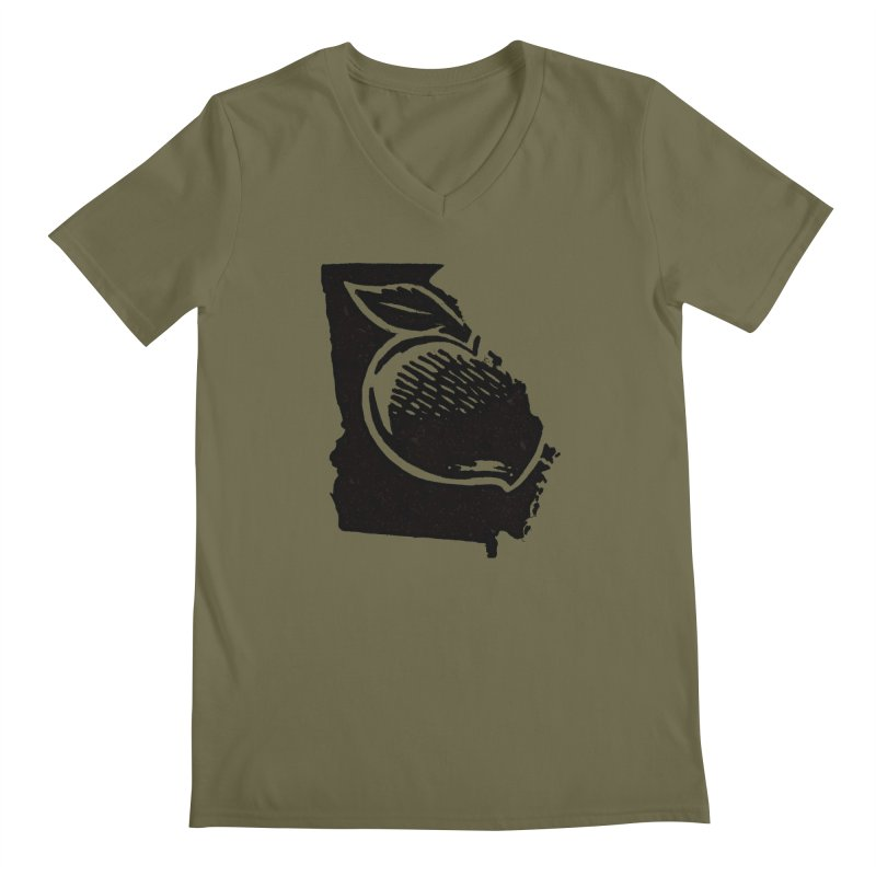 For the Love of Georgia Men's V-Neck by DenDraws's Shop