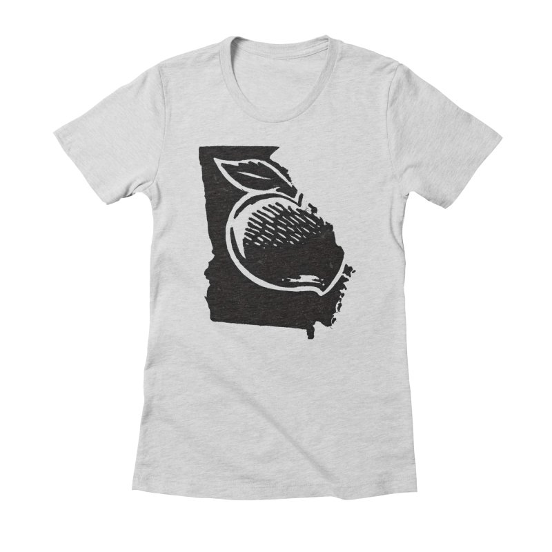 For the Love of Georgia Women's Fitted T-Shirt by DenDraws's Shop