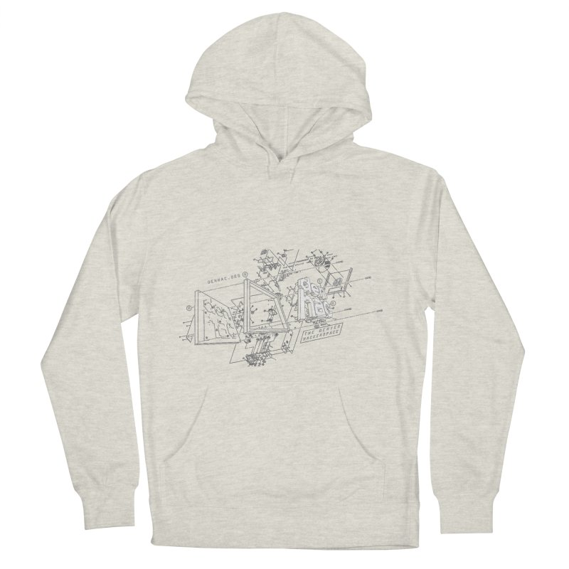 Exploded Logo - Black Men's Pullover Hoody by denhac swag