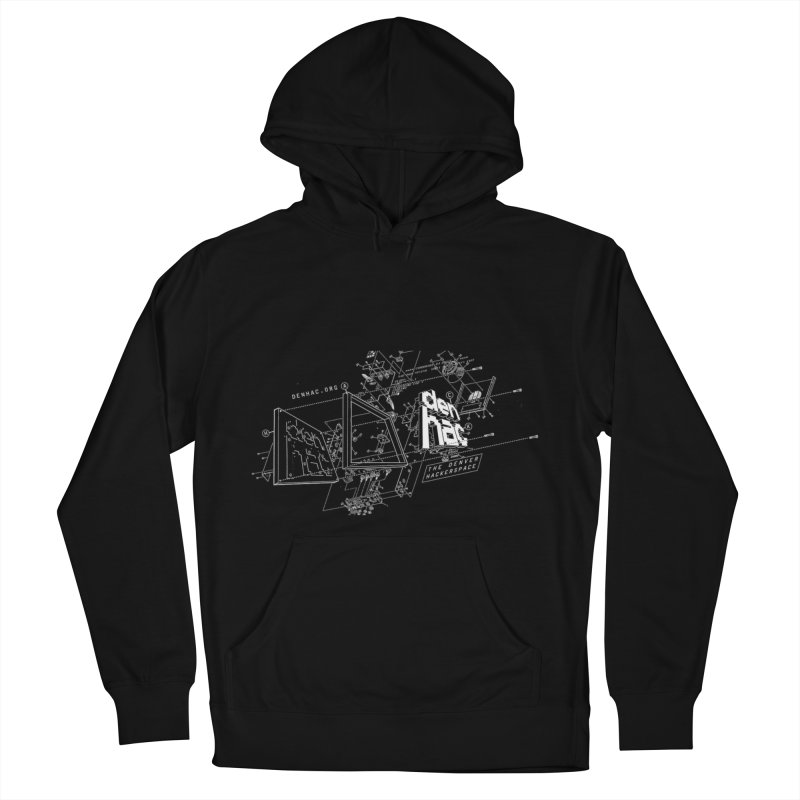 Exploded Logo - Black in Men's Pullover Hoody Black by denhac swag