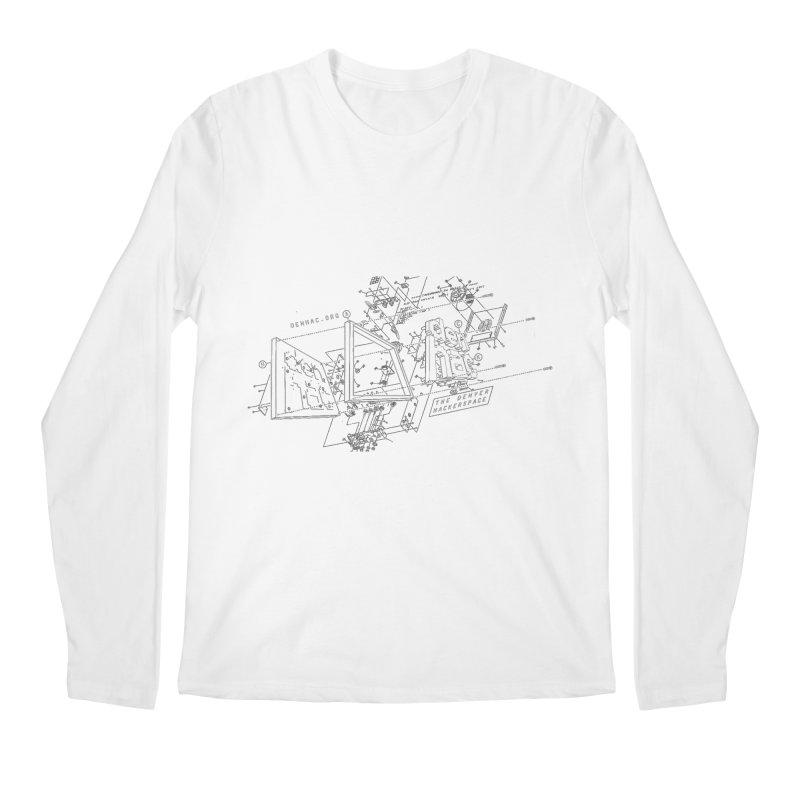 Exploded Logo - Black Men's Longsleeve T-Shirt by denhac swag