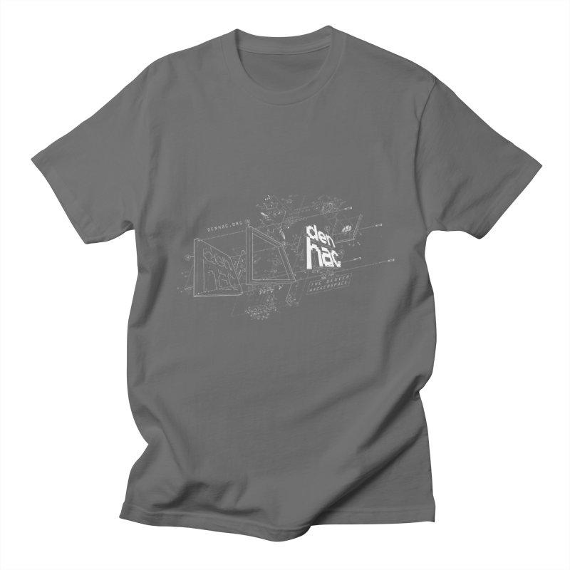 Exploded Logo - Black Men's T-shirt by denhac swag