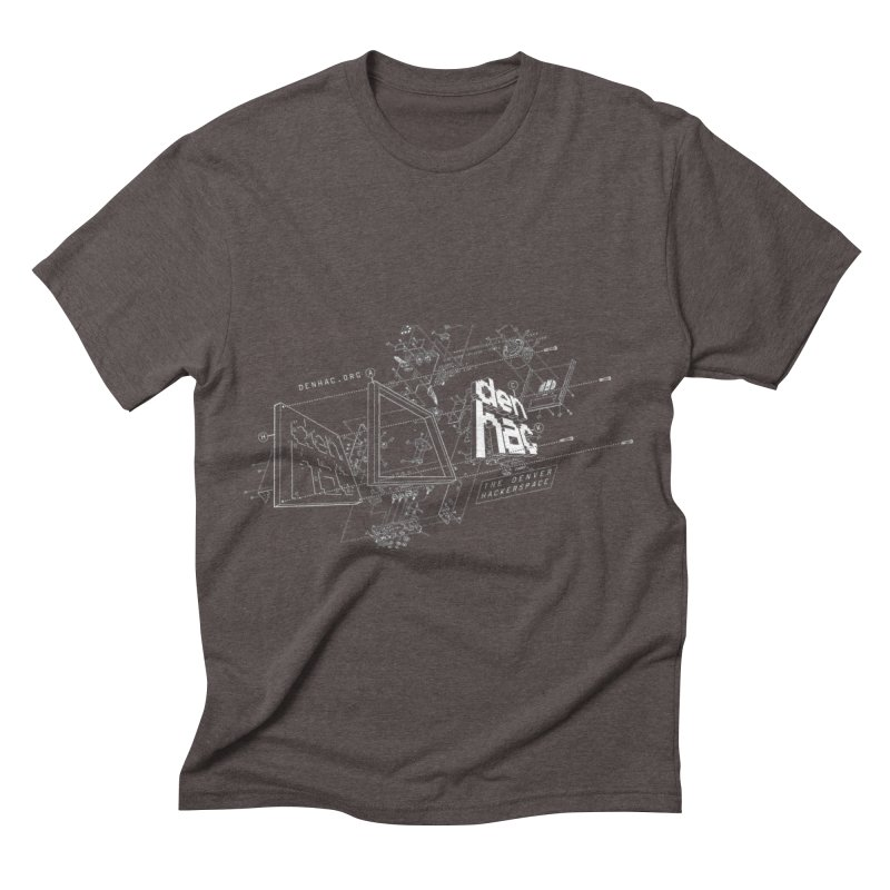Exploded Logo - Black Men's Triblend T-shirt by denhac swag
