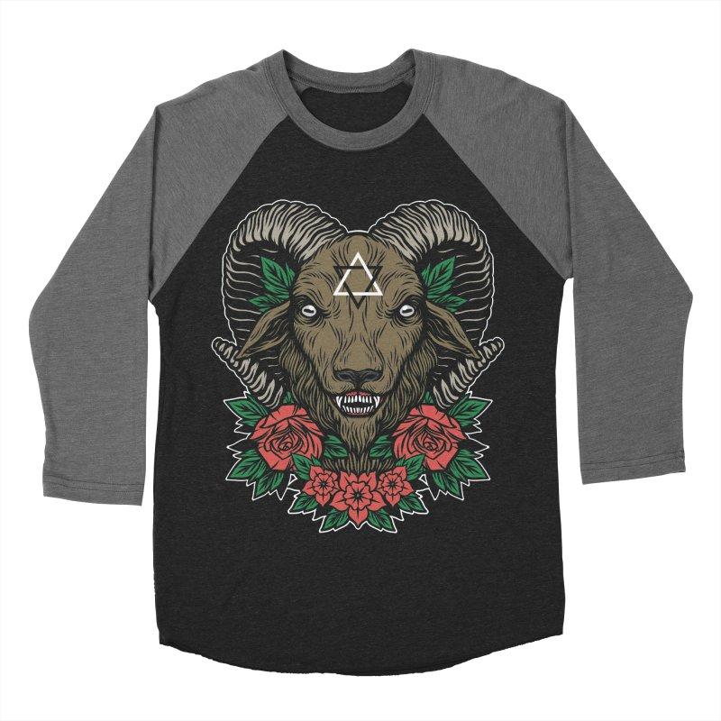 Dark Goat Women's Baseball Triblend Longsleeve T-Shirt by Deniart's Artist Shop