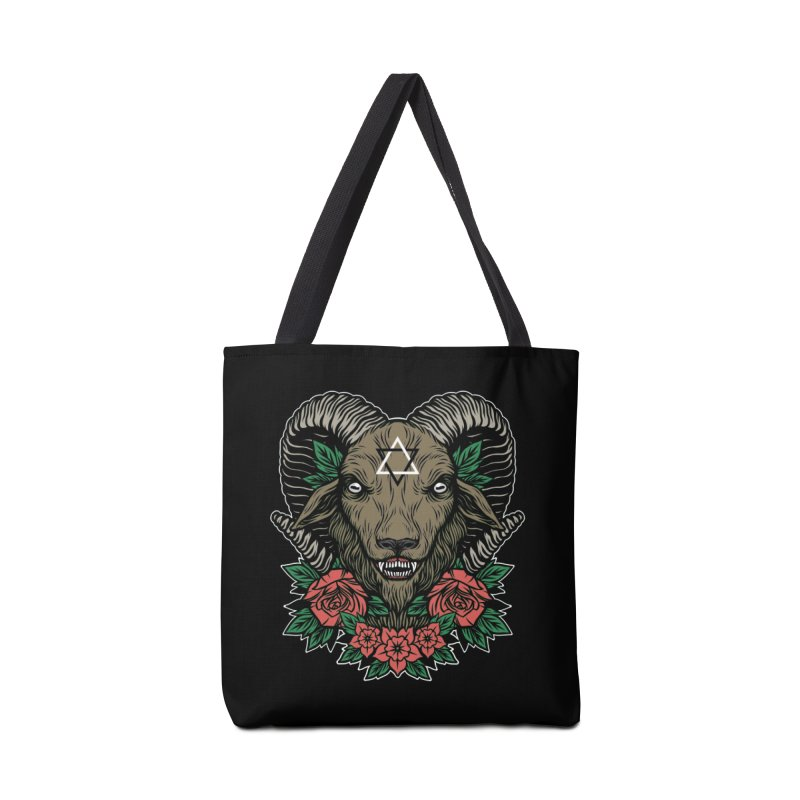 Dark Goat Accessories Tote Bag Bag by Deniart's Artist Shop