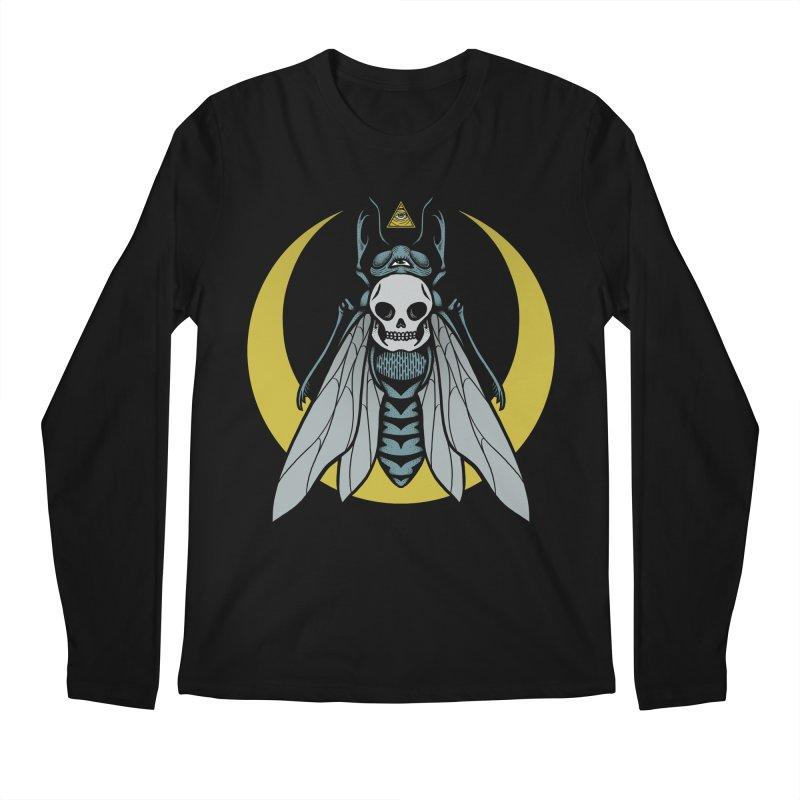 Dark Fly Men's Regular Longsleeve T-Shirt by Deniart's Artist Shop