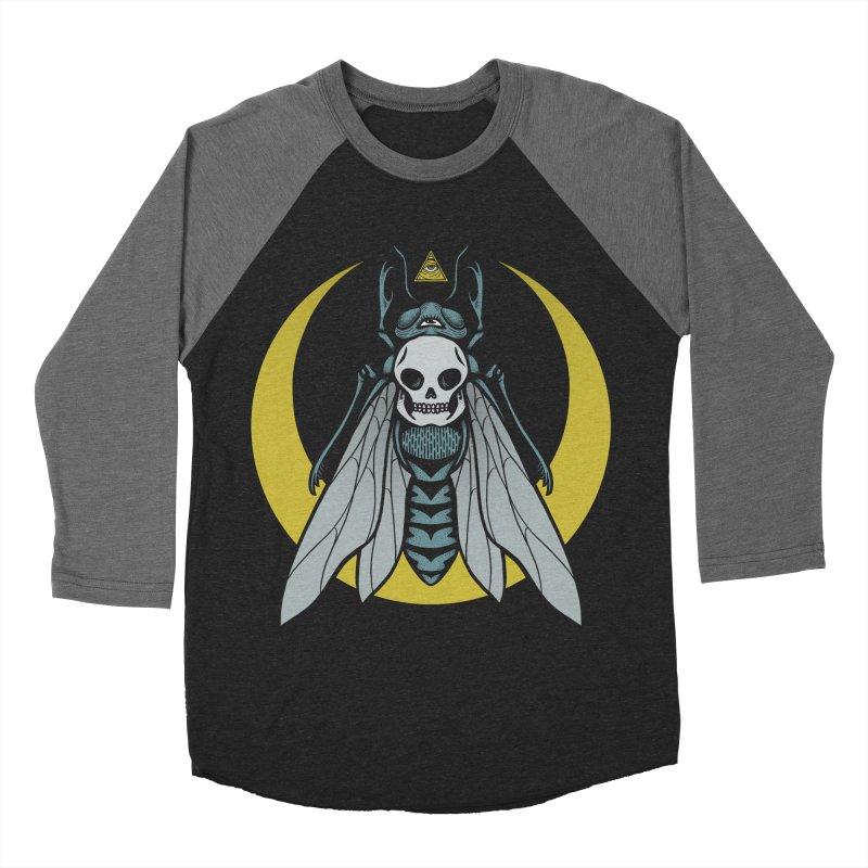 Dark Fly Women's Baseball Triblend Longsleeve T-Shirt by Deniart's Artist Shop